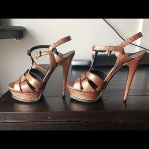 Ysl tribute sandals brown/bronze 36.5